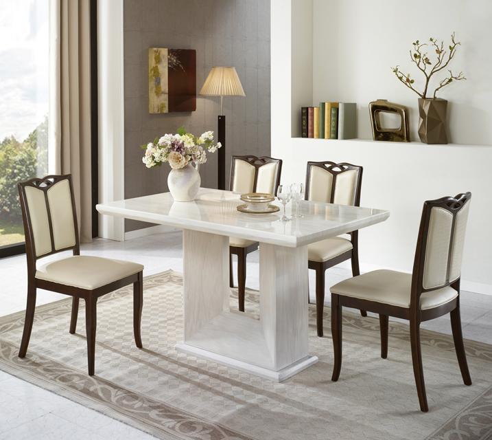 블랑 하부형 대리석 4인 식탁 세트 (의자형 / 의자4ea) / 월 39,800원