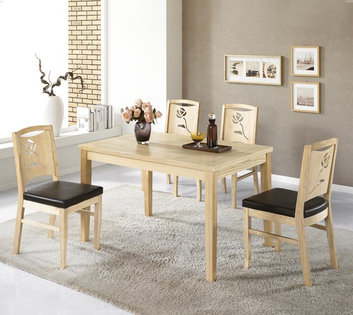 플로라 원목 4인 식탁 세트 (의자형 / 의자4ea) / 월 19,800원