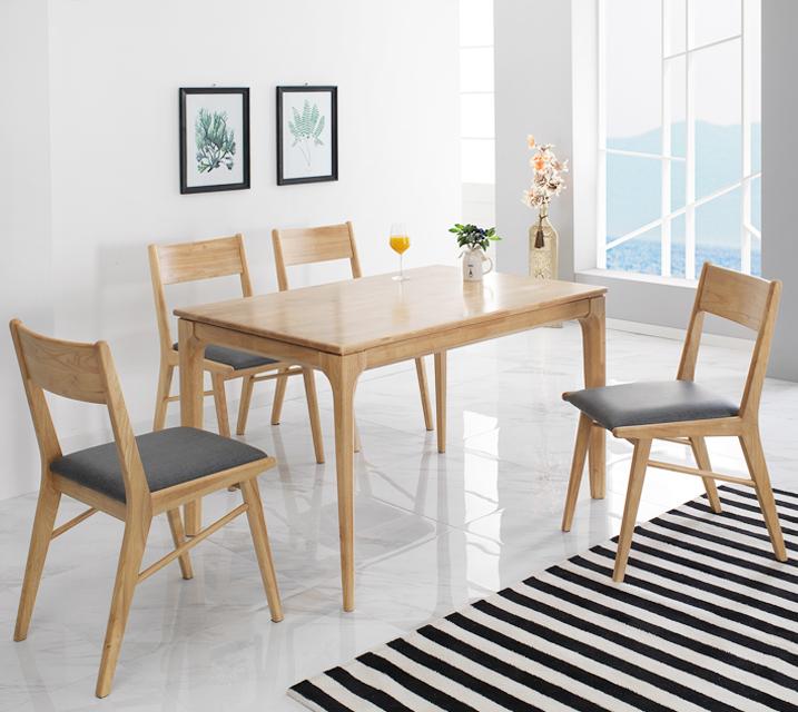 그레텔 고무나무 원목 2인 식탁 세트 (의자형 / 의자2ea)  / 월 17,800원