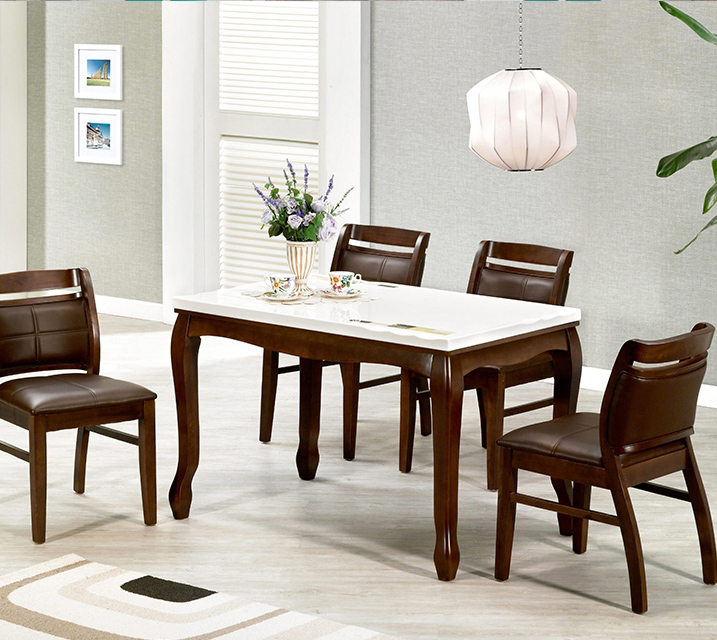 블란치 천연대리석 4인 식탁 (벤치형 / 의자 2ea+4인벤치) / 월 25,800원