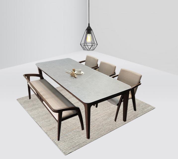 램지 4인 벤치형 세라믹 식탁 세트  / 월 43,800원