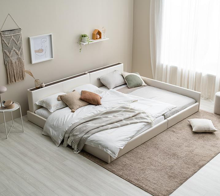 데이지 패밀리 침대 [화이트] Q+SS+PVC 깔판 / 월 25,800원