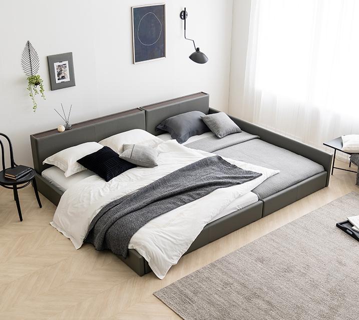 데이지 패밀리 침대 [그레이] Q+SS+PVC 깔판 / 월 45,800원