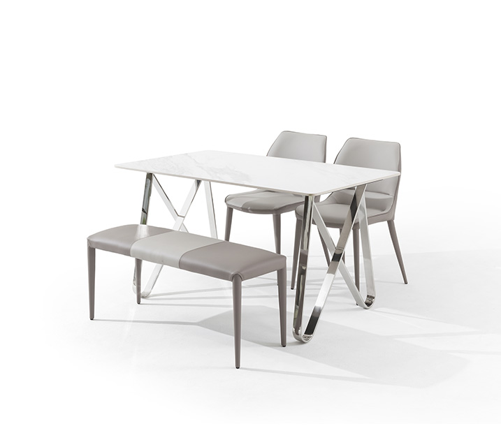 루멘 세라믹 4인 식탁세트 (의자2ea, 벤치1ea) / 월 63,800원