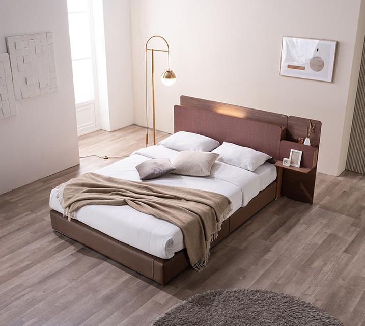 카니스 LED 침대 퀸 (Q) 침대세트 [독립매트리스포함, 협탁 1ea포함] / 월 55,800원