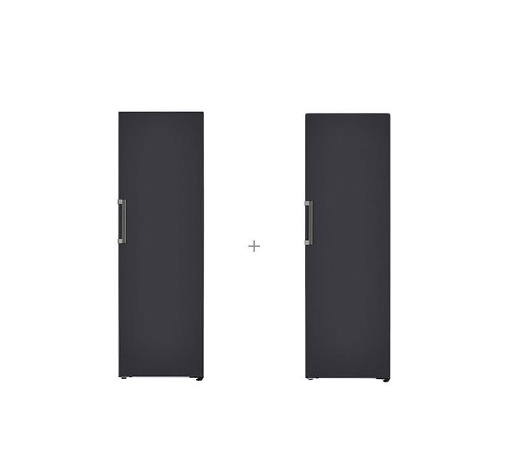 [S] LG 결합2종 오브제컬렉션 컨버터블 패키지 냉장고 384L+김치냉장고 324L 블랙 X320MBS+Z320MBS / 월77,000원