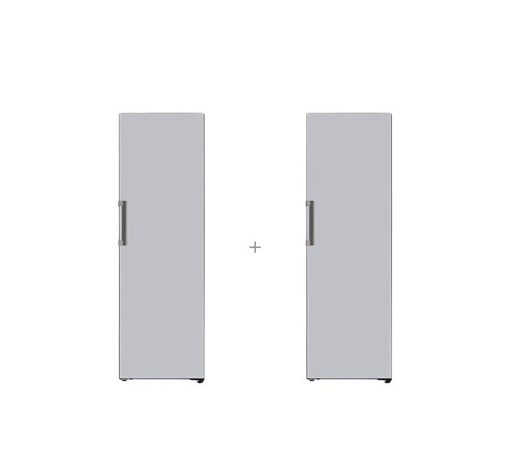 [S] LG 결합2종 오브제컬렉션 컨버터블 패키지 냉장고 384L+김치냉장고 324L 글라스 실버 X320GSS+Z320GS / 월86,000원
