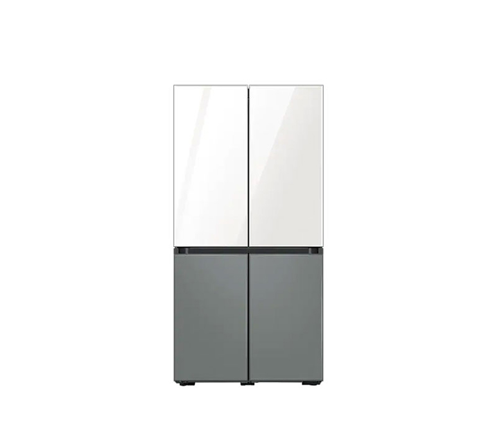[S] 삼성 비스포크 냉장고 4도어 프리스탠딩 글램화이트/새틴그레이 874L RF85A9121APW / 월67,900원