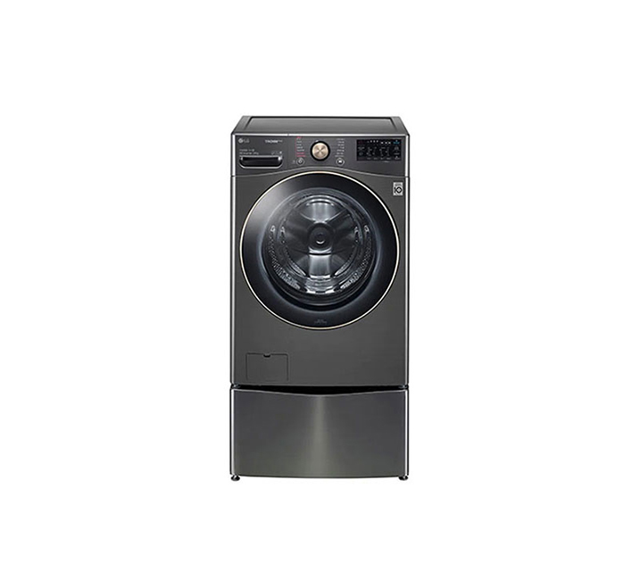 [S] LG전자 트롬 트윈워시 세탁기 모던스테인리스 21kg + 4kg F21VDDM / 64,000원